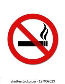 Black and red no smoking smybol