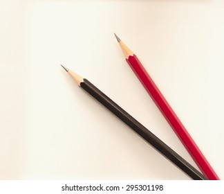 black and red pencil