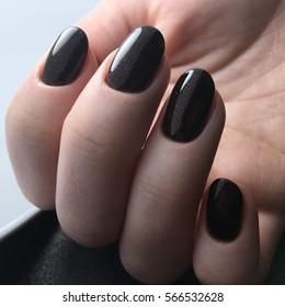 Black Nail Polish Images, Stock Photos & Vectors | Shutterstock