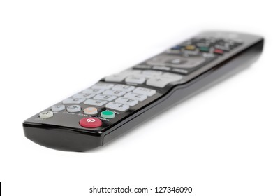 Black remote control isolated