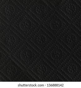 black retro napkin texture