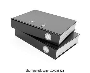 a black ring binder isolated on a white background