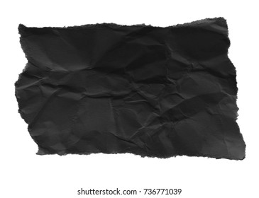black ripped paper, space for advertising copy