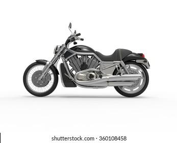 Black Roadster Bike - Side View