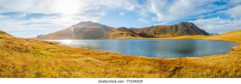 Black Rock lake panorama, Lagodekhi national park, Georgia Russia border
