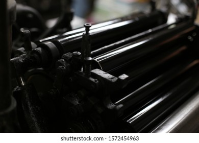 black roller on printing machine