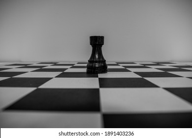 Black rook in the middle of the board