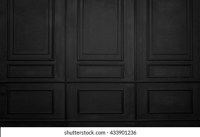 Black room interior design