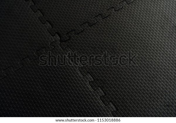 Black Rubber Floor Mat Tiles Inside Stock Photo Edit Now 1153018886