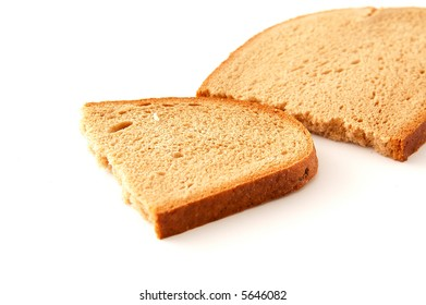 Black Russian bread on a white background , isolated
