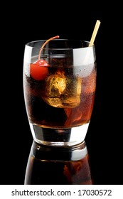 Black russian isolated on a black background