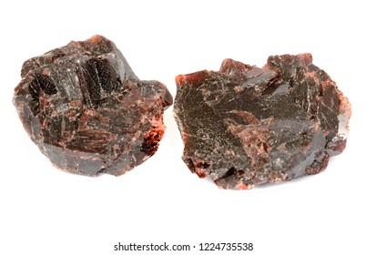 Black salt raw crystals, pieces. Natural himalayan salt.