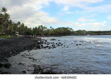 black sand beach in Hawaii, Big Island Hawaii