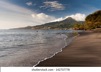 Black sand beach next to Saint Pierre, Martinique