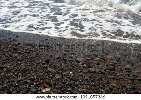 Black sand beach. Nothern Bali