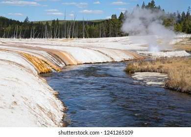 Black sands geyser basin in the Yellowstone National park, USA