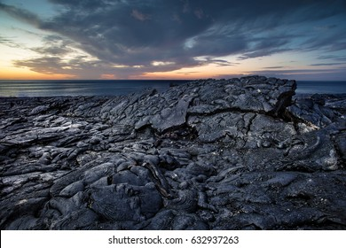 Black scenery of Lava fields
