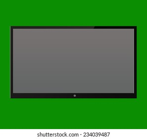 black screen TV on the background
