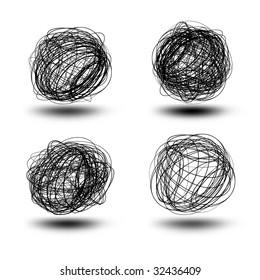 Black scribble balls - Hi-Res Grunge Icons