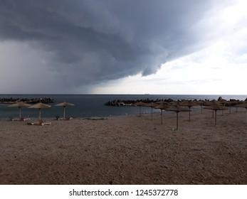 """The Black Sea at """"GoGo Beach"""" Eforie Sud, Constanța, Romania."""