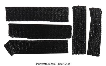 Black sello tape isolated on white