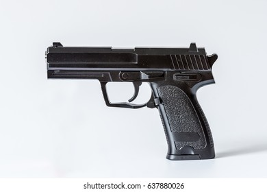 The black semi-automatic pistol