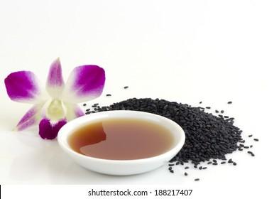 Black sesame seeds and sesame oil