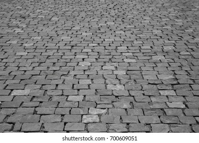 black sett pavement background or abstract paving texture