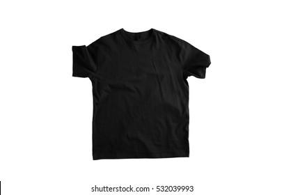 Black shirt isolated on white background