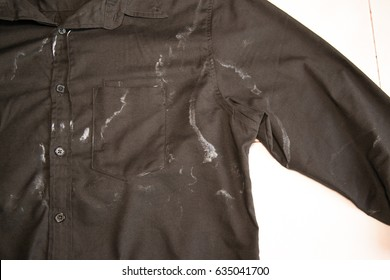 Black shirt with sweat stains