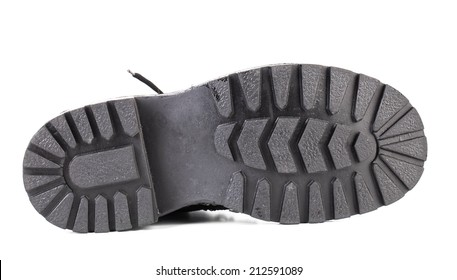 Black shoe sole. Isolated on a white background.