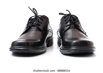 Black shoes. Isolated on the white background