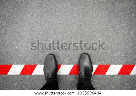 black shoes standing on
