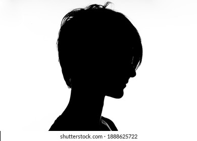 black silhouette of a man on a white background