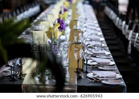 Black Silver Wedding Theme Stock Photo Edit Now 626905943