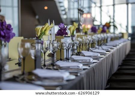 Black Silver Wedding Theme Stock Photo (Edit Now) 626906129 ...