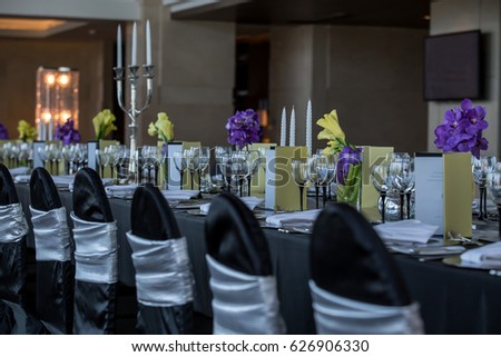 Black Silver Wedding Theme Stock Photo Edit Now 626906330