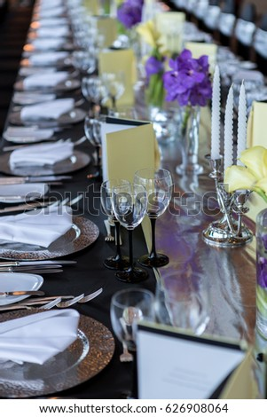 Black Silver Wedding Theme Stock Photo Edit Now 626908064