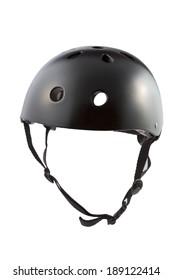Black skater Helmet isolated on white background