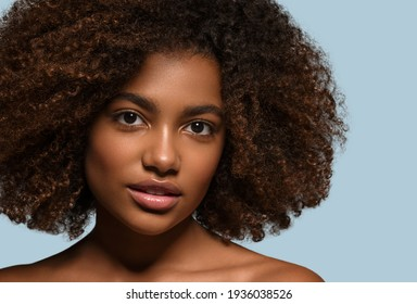 Black skin beauty woman healthy teeth smile female beautiful model face skin care