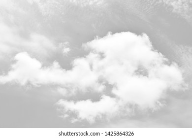Black sky with white clouds. Beautiful sky background and wallpaper.