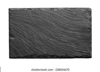 black slate roof tile isolated