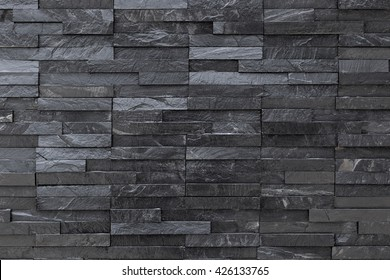 Black slate wall background