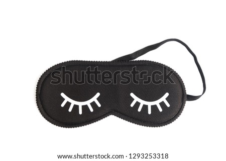 2a190b04928 Black Sleeping Eye Mask Isolated On Stock Photo (Edit Now ...