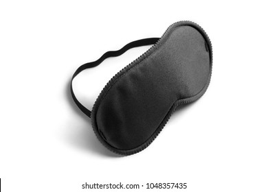 Black sleeping mask, isolated on white background