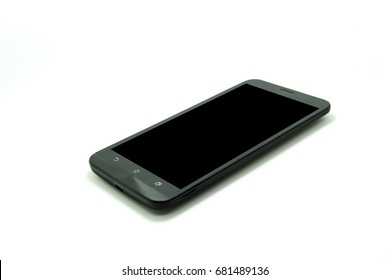 black smart phone in white background
