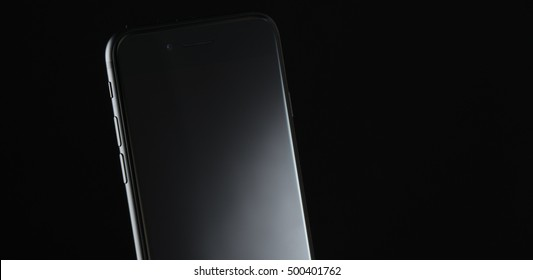 Black smartphone, iphone 7
