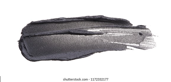 Black smear of magnetic face mask on a white background.