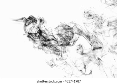 Black smoke abstract background.