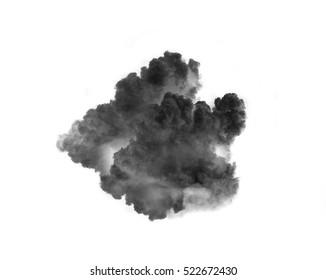 black  smoke clouds  over white